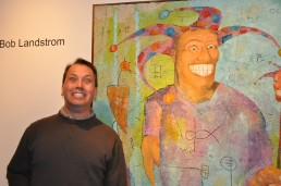 Action pics: Bob Landstrom at Alan Avery Art Company 2010