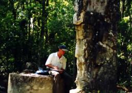 Bob Landstrom at Templo de inscripciones Guatemala 1999