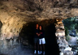 Bob Landstrom with Susan Landstrom at Sinaqua cliff dwellings Arizona 1992