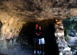 Bob Landstrom with Susan Landstrom at Sinaqua cliff dwellings Arizona 1992