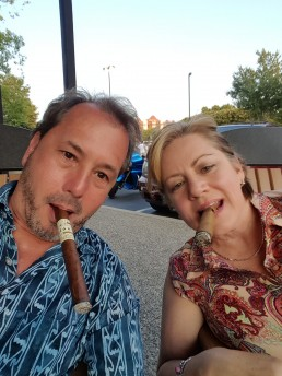 Bob and Gena Landstrom at Cutters Cigar Emporium